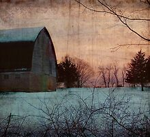 Winter Barn by Kelly Marszycki
