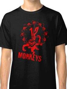12 Monkeys Red Stencil Classic T-Shirt