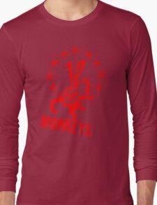 12 Monkeys Red Stencil Long Sleeve T-Shirt