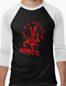 12 Monkeys Red Stencil Men's Baseball ¾ T-Shirt