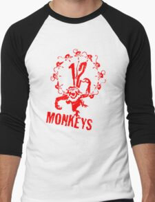 12 Monkeys Red Stencil Men's Baseball ¾ T-Shirt