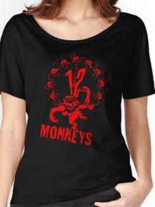12 Monkeys Red Stencil Women's Relaxed Fit T-Shirt