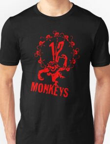 12 Monkeys Red Stencil Unisex T-Shirt