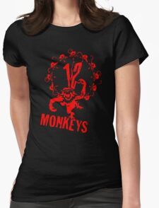 12 Monkeys Red Stencil Womens Fitted T-Shirt
