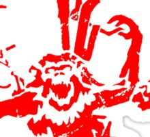 12 Monkeys Red Stencil Sticker
