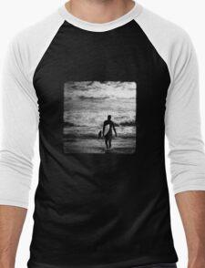 Heading Out - B&W Halftone Men's Baseball ¾ T-Shirt