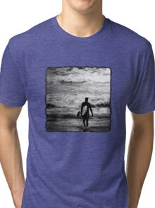 Heading Out - B&W Halftone Tri-blend T-Shirt
