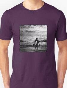 Heading Out - B&W Halftone Unisex T-Shirt