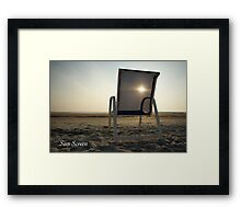 Sun Screen Framed Print