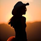 Cowgirl Silhouette by Cathy L. Gregg