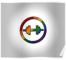 Rainbow Weights Icon Poster