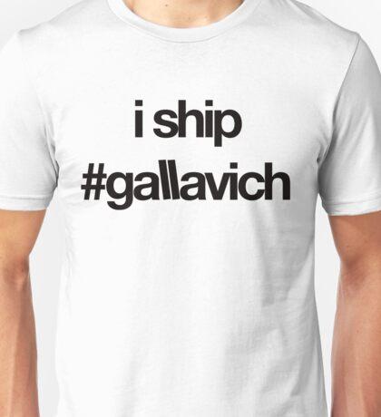 i ship #gallavich (Black with white bg) Unisex T-Shirt