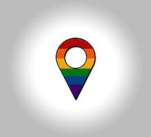 Rainbow Map Location Icon by LiveLoudGraphic