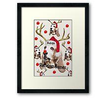 Reindeer Games Framed Print
