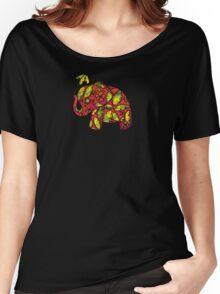 Umbrellaphant Raspberry Splice Women's Relaxed Fit T-Shirt