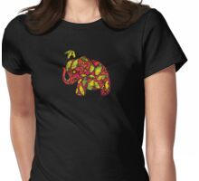 Umbrellaphant Raspberry Splice Womens Fitted T-Shirt