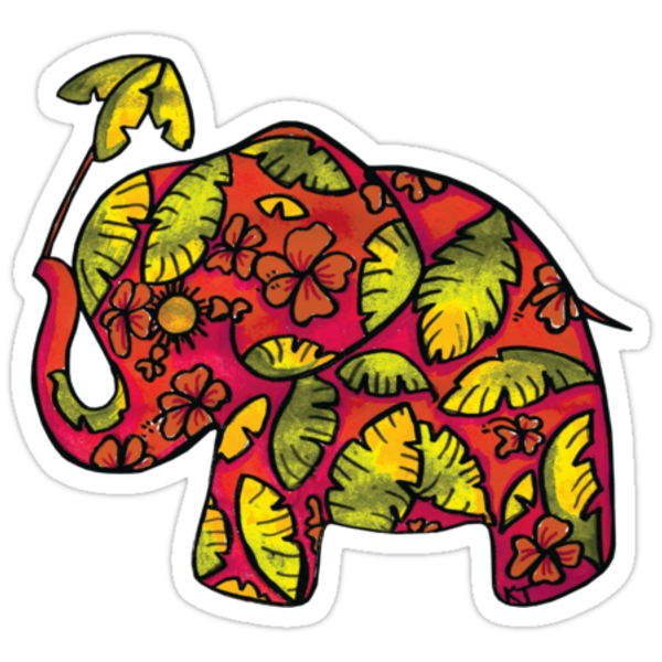 Umbrellaphant Raspberry Splice by © Karin Taylor