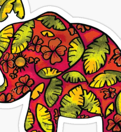 Umbrellaphant Raspberry Splice Sticker
