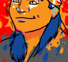 Karate Kid Neon Sticker