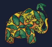 Umbrellaphant Lime Splice Kids Tee