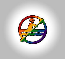Rainbow Canoeing Icon by LiveLoudGraphic