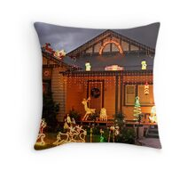 Christmas lights in Glenroy Throw Pillow