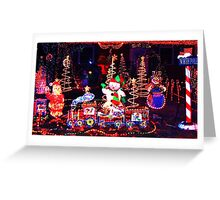 x mas in north pole Greeting Card