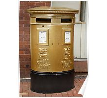 Olympic Gold Royal Mail Post Box Poster