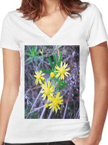 Blue Sunshine Women's Fitted V-Neck T-Shirt