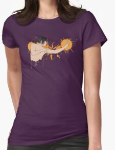 Street art fighter Womens Fitted T-Shirt