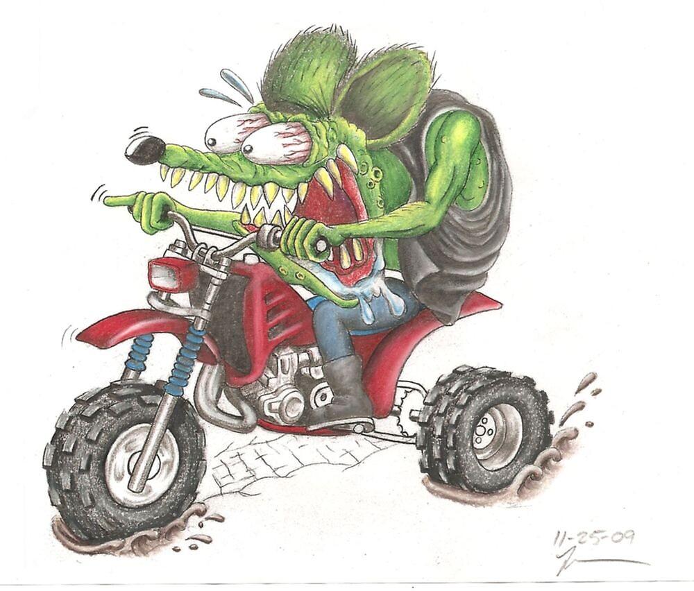 Rat Fink on a 3 wheeler by JimmyJack