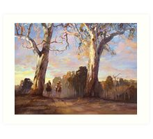 Riders in the Red Gums - after Hans Heysen Art Print