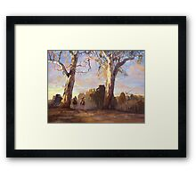 Riders in the Red Gums - after Hans Heysen Framed Print