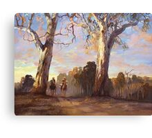 Riders in the Red Gums - after Hans Heysen Canvas Print
