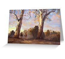 Riders in the Red Gums - after Hans Heysen Greeting Card