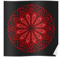 Red and Black Lace Poster