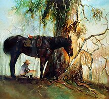 Squatter Scout - Waltzing Matilda Series by Pieter  Zaadstra