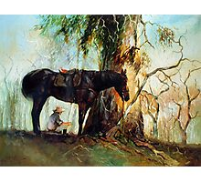 Squatter Scout - Waltzing Matilda Series Photographic Print
