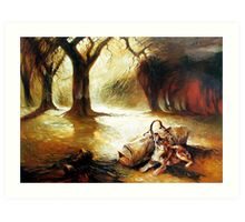 Waiting Faithful - Waltzing Matilda Series  Art Print