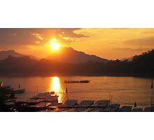 Mekong Sunset Photographic Print
