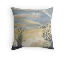 Last light in the Blue Mountains by Peter the Red. Throw Pillow