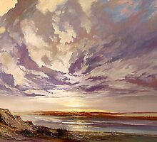 Coorong Sky Study by Pieter  Zaadstra