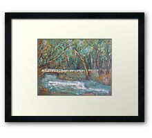 A Bridge over untroubled waters by Peter the Red Framed Print