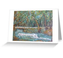 A Bridge over untroubled waters by Peter the Red Greeting Card