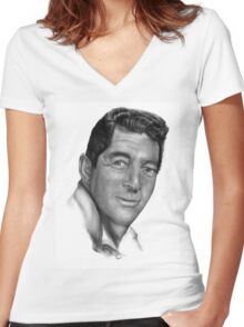 Dean Martin-King of Cool Women's Fitted V-Neck T-Shirt