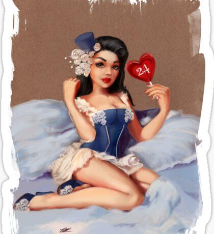 Smudge Edition Girl 24 |  Pinup (Your best Gil Elvgren) Sticker