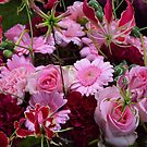 Pink bouquet by Arie Koene