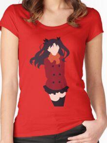 Rin Tohsaka (Fate/stay night Minimalistic Print) Women's Fitted Scoop T-Shirt
