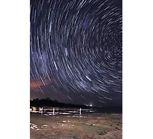 Star Trails Over Lake Clifton  Photographic Print