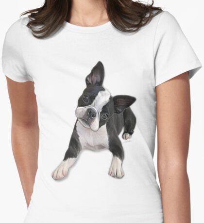 Boston head tilt Womens Fitted T-Shirt